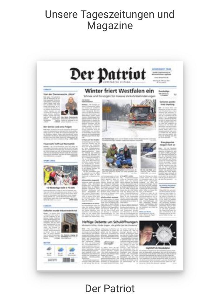 Der Patriot (Tageszeitung) gratis als ePaper