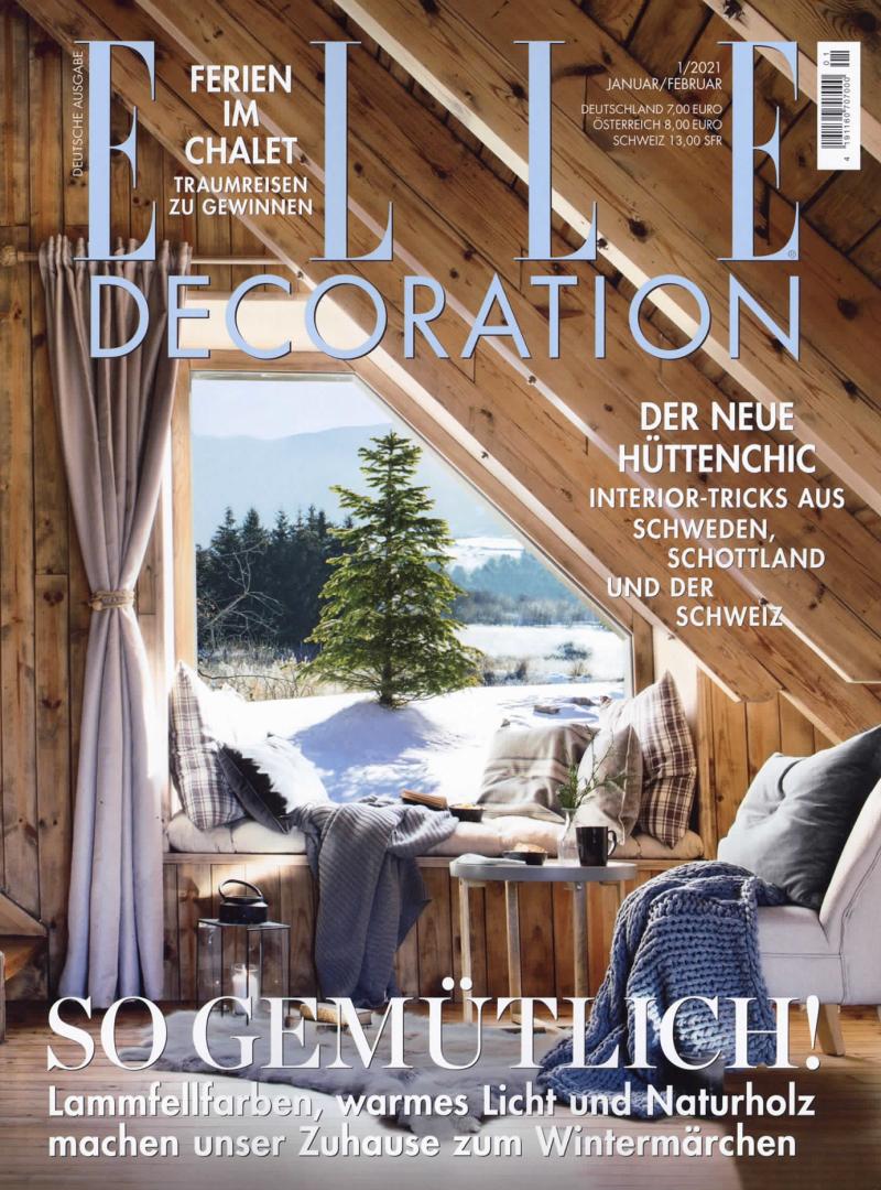 ELLE Decoration Abo (6 Ausgaben) für 34 € mit 30 € BestChoice-Universalgutschein oder 25 € Scheck