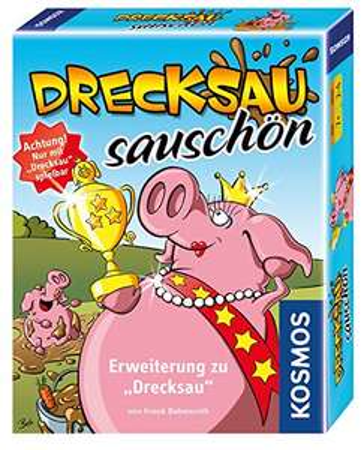 (Prime) KOSMOS 740375 Drecksau - Sauschön Erweiterung des Bestsellers Drecksau lustiges Karten-/Partyspiel