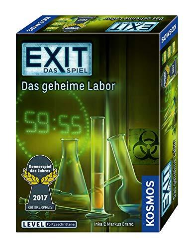 (Prime) KOSMOS 692742 - EXIT - Das Spiel - Das geheime Labor, Kennerspiel des Jahres 2017, Level: Fortgeschrittene, Escape Room Spiel