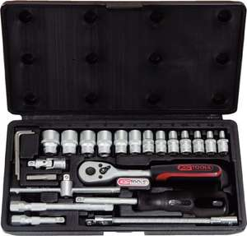 KS Tools Superlock Steckschlüsselsatz 25-tlg. 1/4 Zoll (911.0625) (Prime)