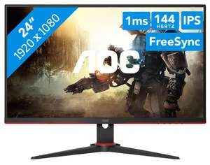 AOC 24G2AE 23,8 Zoll IPS Full-HD Gaming Monitor (1 ms Reaktionszeit, 144 Hz)
