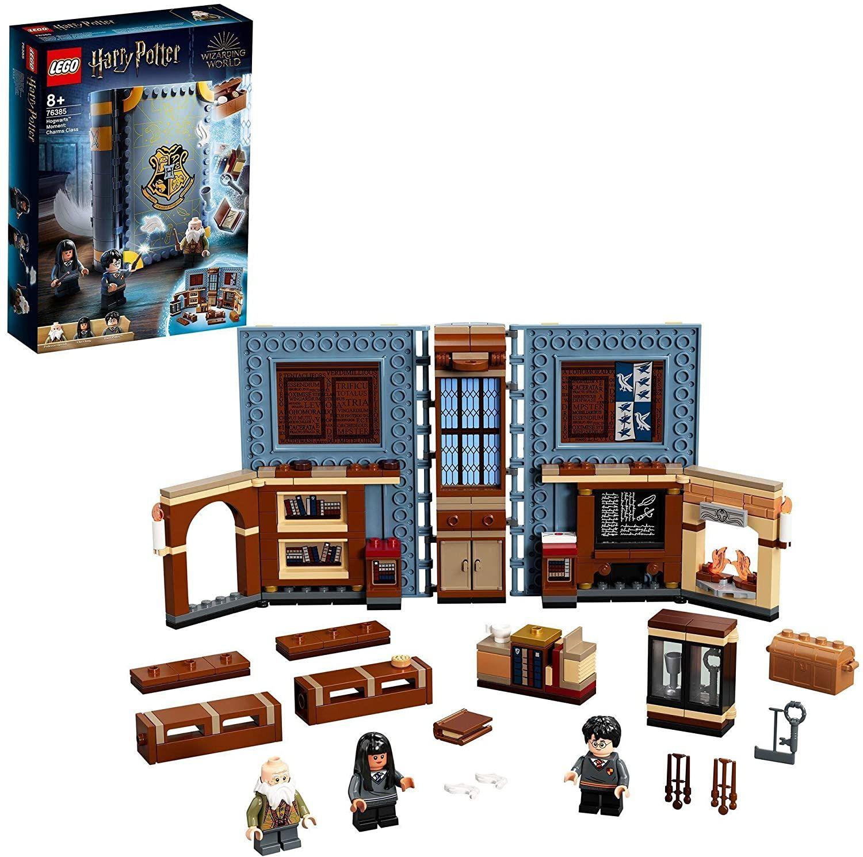 Lego 76385 Harry Potter Hogwarts Moment: Zauberkunstunterricht - sammelbares Spielzeugbuch (265 Teile) [Prime]