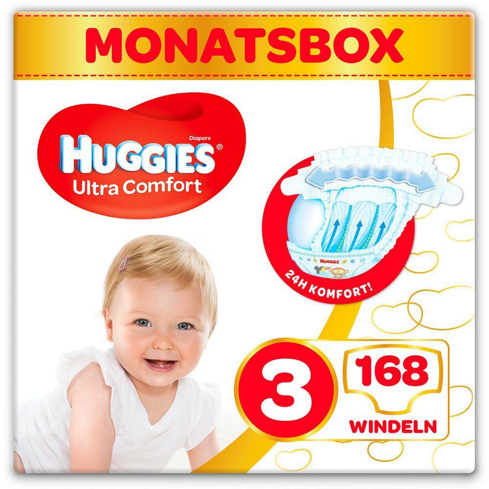 [windeln.de] Huggies Windeln Monatsbox, Größen 3 - 6, ab 2 Boxen 23,77€ pro Box, Einzelbox 27,72€