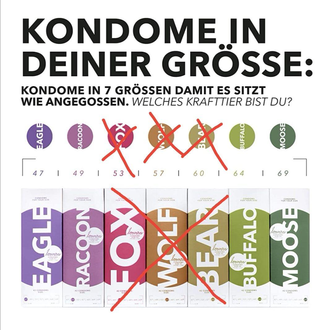 [Amazon Prime] Loovara 3 Kondome in individuellen Größen (nur noch 47, 49verfügbar)