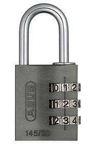 (Prime) ABUS Zahlenschloss 145/30 Titanium - Vorhängeschloss aus massivem Aluminium - 46622 - Level 3
