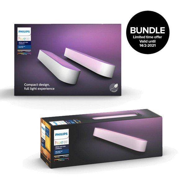 Philips Hue Play Lightbar 3er Pack in weiß (3 x Play, 1 x Netzteil) - 3% Shoop möglich