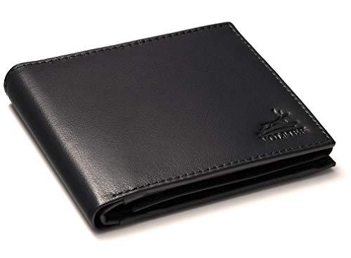 [Amazon Prime] Fa.Volmer ® Herren Ledergeldbörse aus echtem Leder Querformat #VO11 (Typ1 Schwarz, Typ2 Navy oder Typ3 Dunkelbraun)