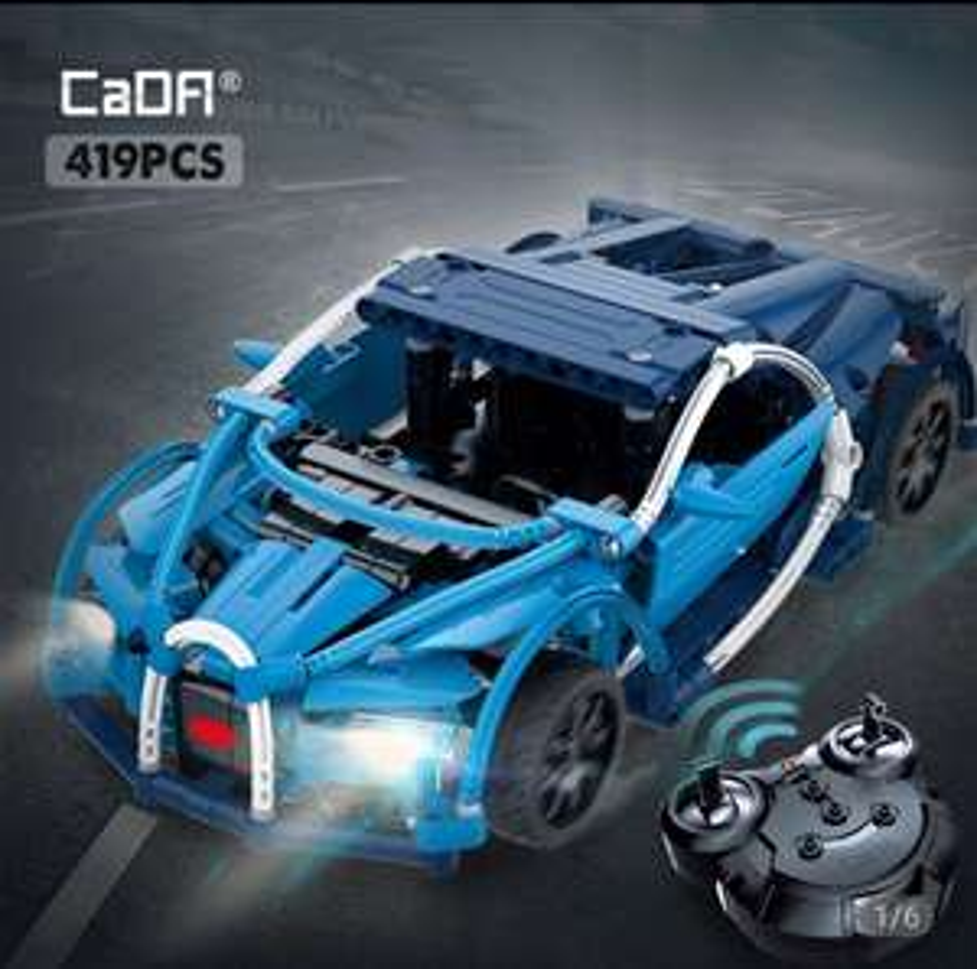 CaDA Bugatti Chiron Sportwagen Ferngesteuerter 419 Teile Technik RC