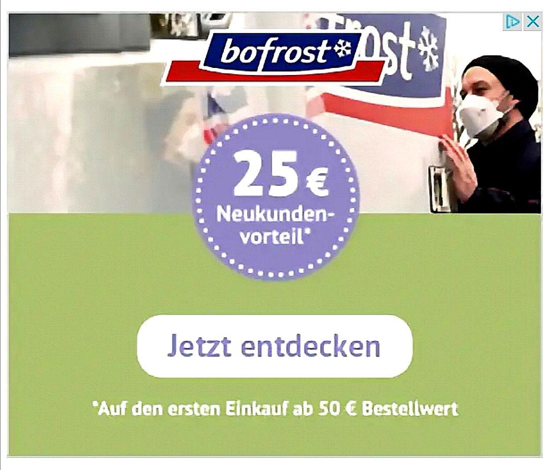 BoFrost:25€ Neukundenvorteil ab 50€