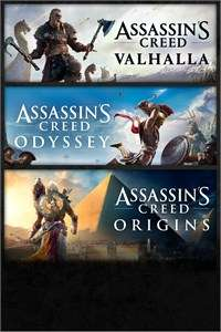 [Xbox One & Series X|S] Pack Assassin's Creed Valhalla + Origins + Odyssey (Microsoft Store BR)