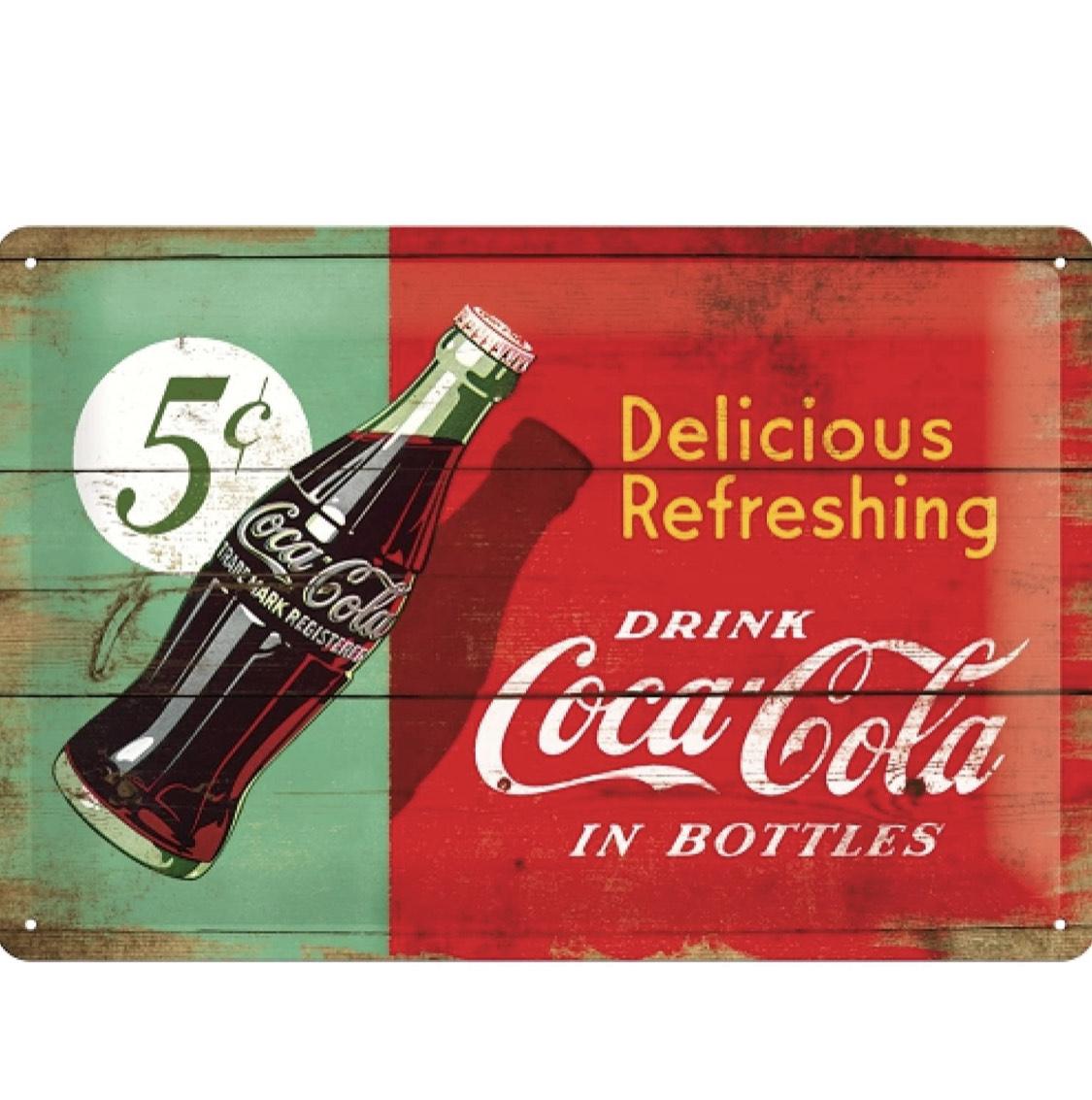 (prime) Nostalgic-Art Retro Blechschild Coca-Cola