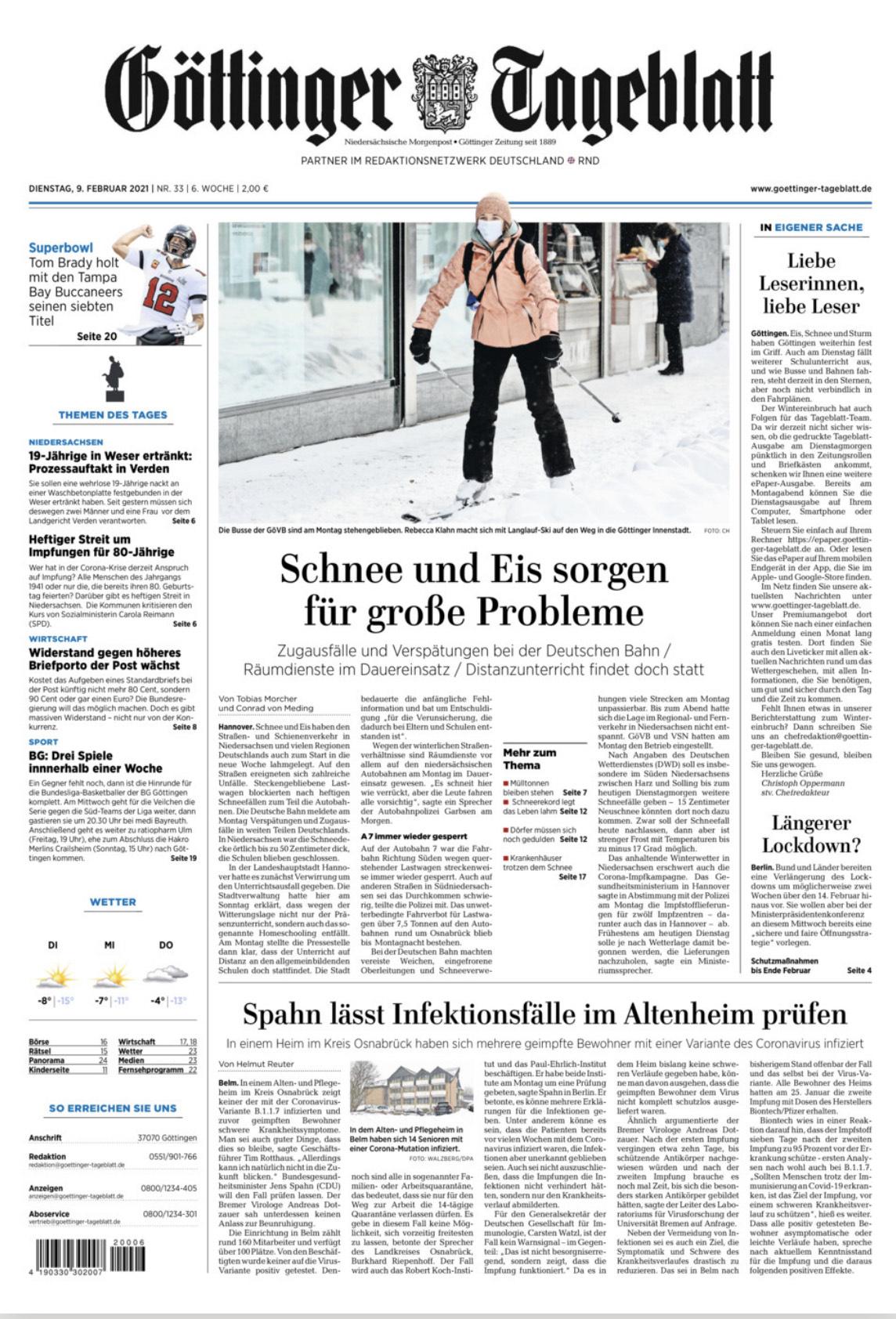 Göttinger Tageblatt E-Paper heute Gratis
