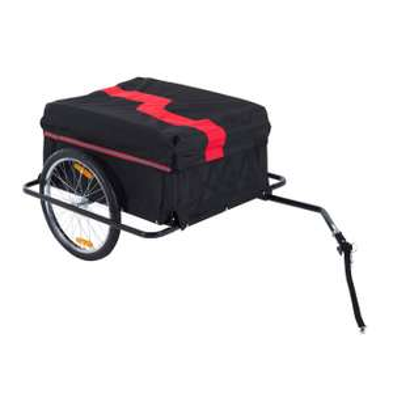 Homcom Transportanhänger für Fahrräder schwarz/rot Fahrradanhänger