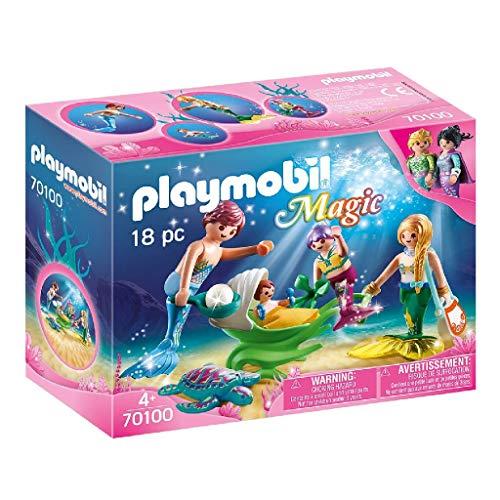 [Amazon Prime] PLAYMOBIL 70100 Magic Familie mit Muschelkinderwagen, bunt, ab 4 Jahren, 18 Teile