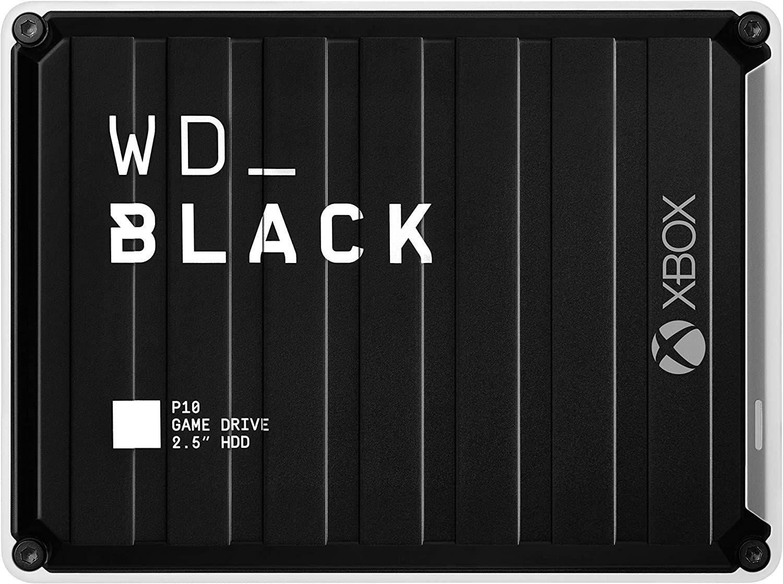 "Western Digital WD Black P10 Game Drive Xbox 5TB Festplatte inkl. 2 Monate Xbox Game Pass Ultimate (bis 140 MB/s, 2,5"" SATA III, USB 3.0)"