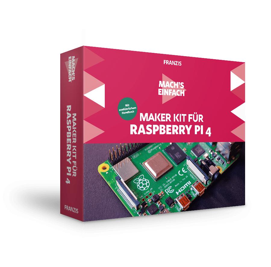 Franzis Maker Kit für Raspberry Pi 4 (Grundlagenkurs Inkl. ausführlichem Handbuch und vielen Bauteilen, Raspberry Pie 4 nicht enthalten!)