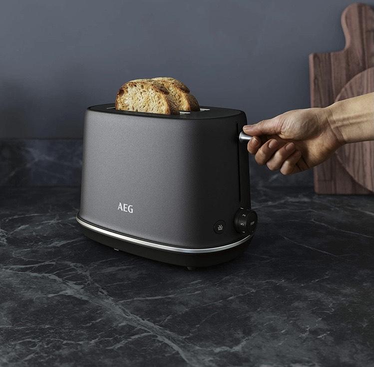 AEG T7-1-6BP Gourmet 7 Doppelschlitz-Toaster schwarz/Black Pearl