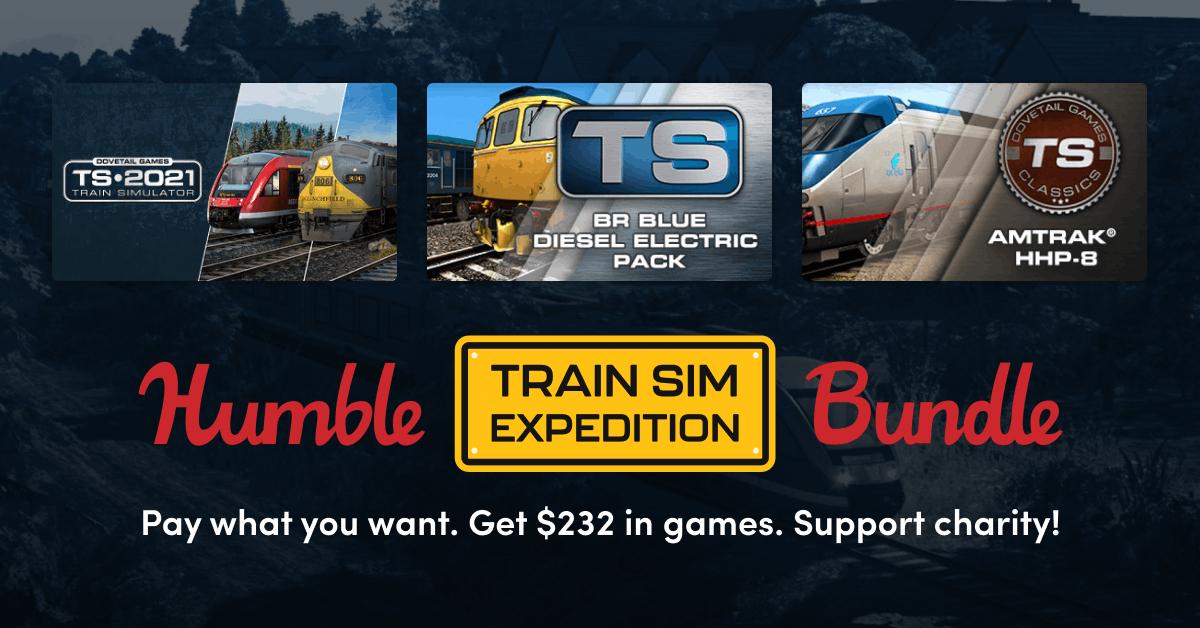Humble Train Sim Expedition Bundle: Train Simulator 2021 + 5 DLC für 1€ (PC - Steam)