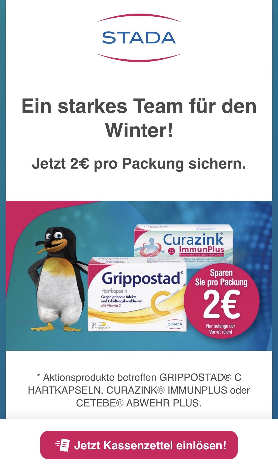 Grippostad Cetebe & Curazink Sparaktion Cashback