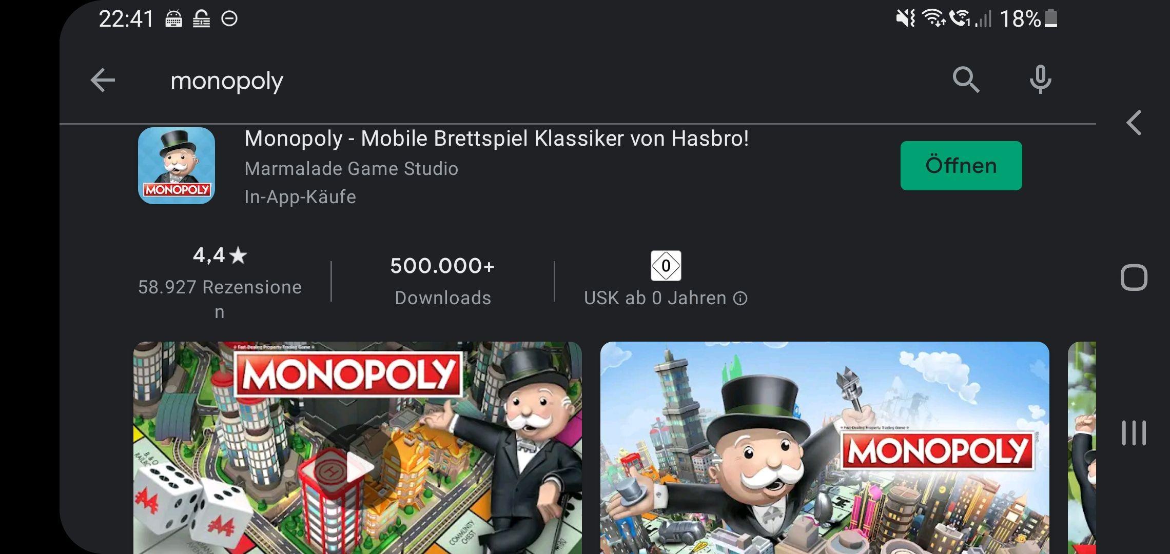 Monopoly App für 2,69 € statt 4,49 € (Google Play / Android) - Brettspiel-Animation