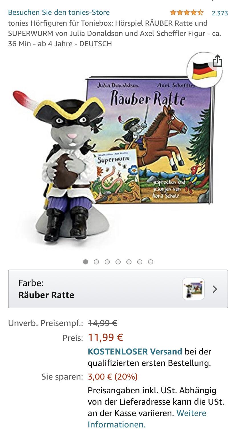PRIME Tonie Figur Räuber Ratte
