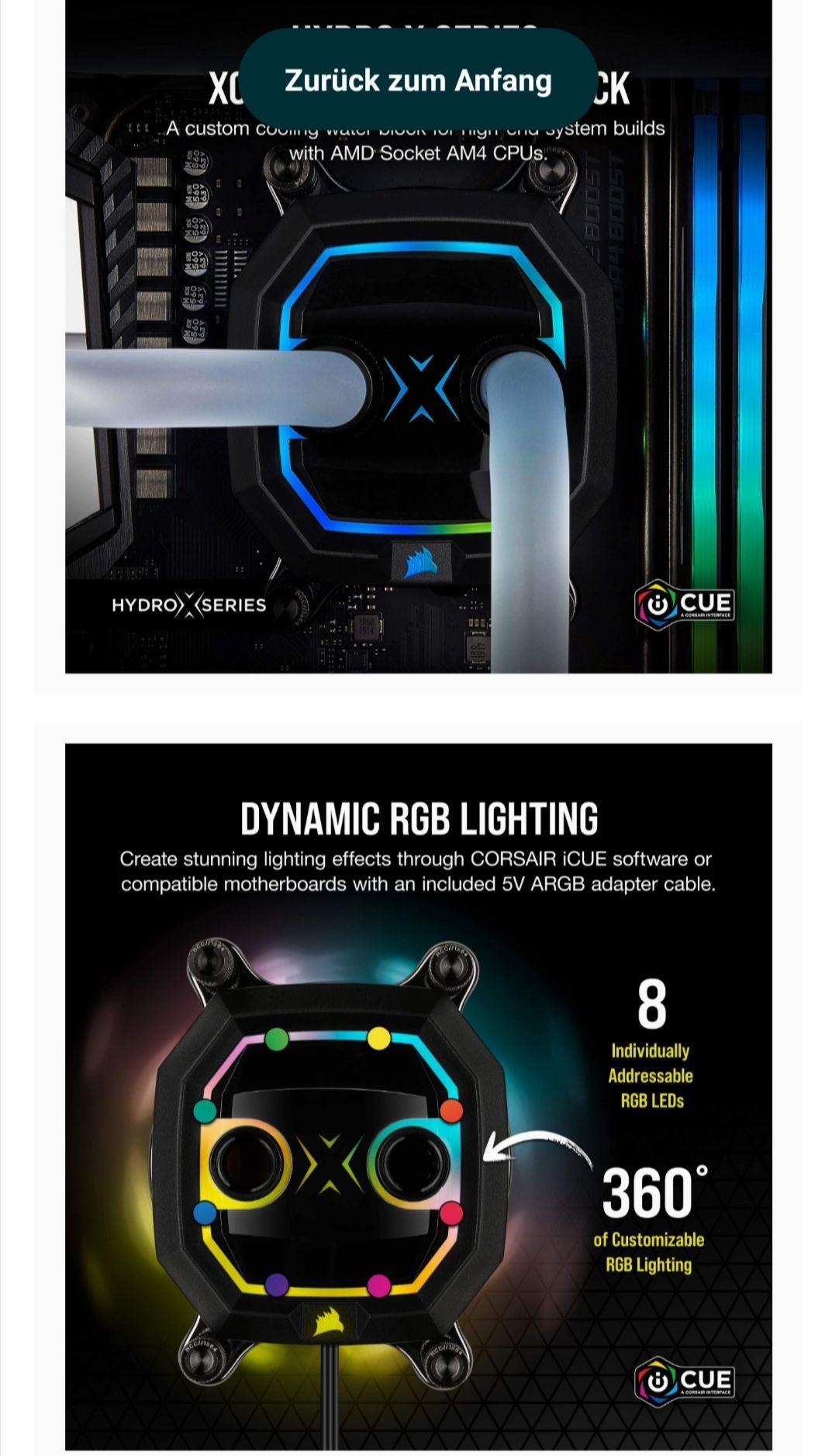 Corsair Hydro X Series XC5 RGB CPU-Wasserkühler (AM4) CX-9010012-WW