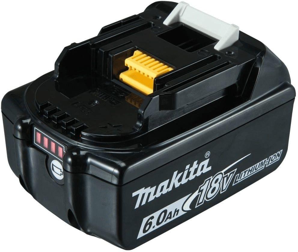 Makita BL1860B 18V 6 Ah Li-Ion Werkzeugakku mit LED-Ladestandanzeige