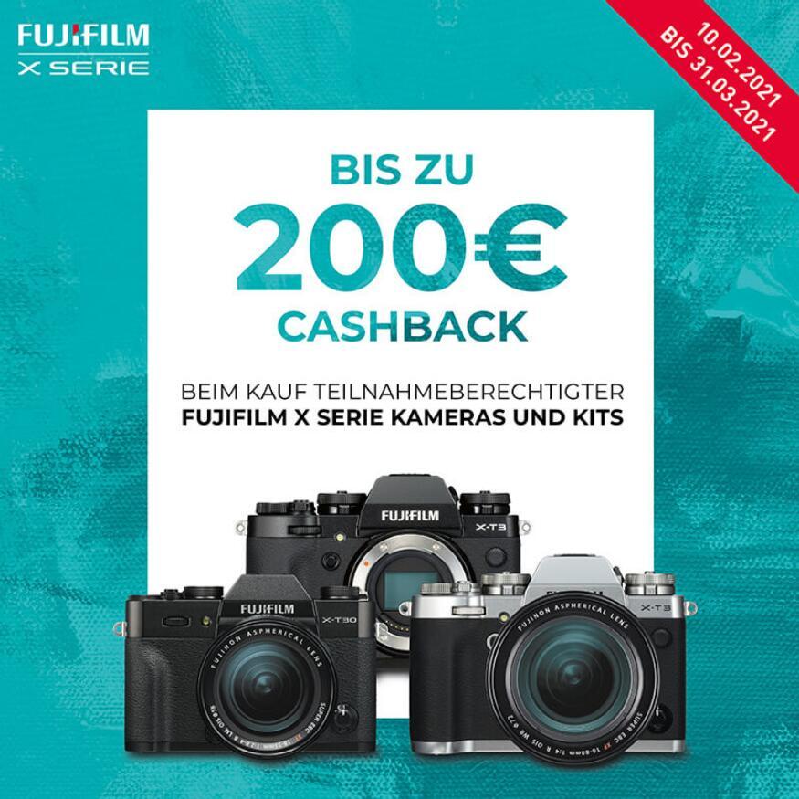 Fujifilm Cashback-Aktion: X-T3 Systemkamera (200€) & X-T30 Systemkamera (100€)