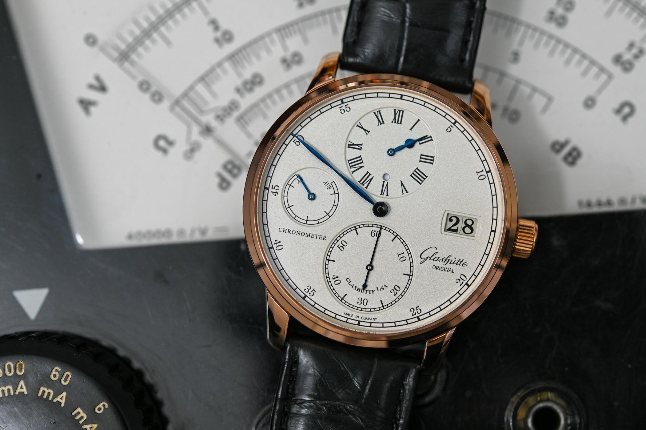 Glashütte Original - Senator Regulateur Chronometer - aus Echtgold - Manufakturwerk - deutsche Luxusuhr - UVP 26.700€