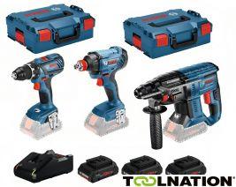 Bosch Blau 3 Tool Kit 18V+3x Pro Core 18V 4,0Ah Li-Ion