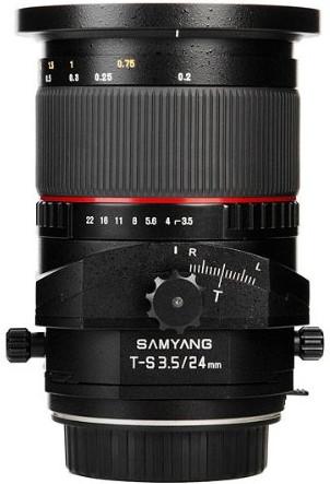 Samyang T-S 24mm F3.5 ED AS UMC Tilt and Shift Objektiv für Canon EF-Mount