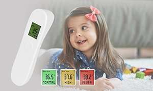 kontaktloses Infrarot Fieberthermometer + 25er Pack FFP2 Atemschutzmaske Corona-Paket