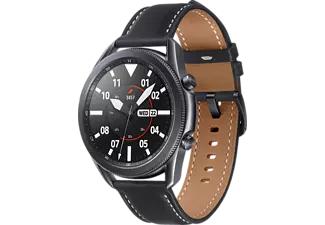 SAMSUNG Galaxy Watch 3 45 mm Bluetooth Smartwatch (Edelstahl, Echtleder, Größe M/L 145 - 205 mm) in schwarz oder silber