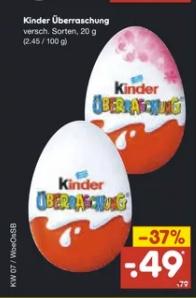 [Netto Marken-Discount vom 18.02 bis 20.02] Kinder Überraschung (Ü-Ei) versch.Sorten für 0,49€