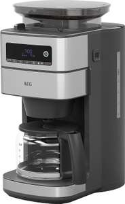 AEG CM6-1-5ST Kaffeemaschine (Integriertes Mahlwerk, 3 Mahlgradeinstellungen, programmierbarer Timer, Kaffeepulver oder Kaffeebohnen