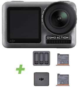 DJI Osmo Action Cam mit 2 Bildschirmen 11m wasserdicht 4K HDR-Video + Action Lade-Kit inkl. 2 Akkus für zusammen 229€ inkl. Versandkosten