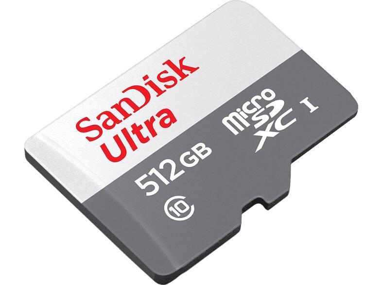 Wieder verfügbar! - SANDISK Ultra microSDXC Speicherkarte 512GB 100 MB/s für 52,99€ inkl. Versandkosten