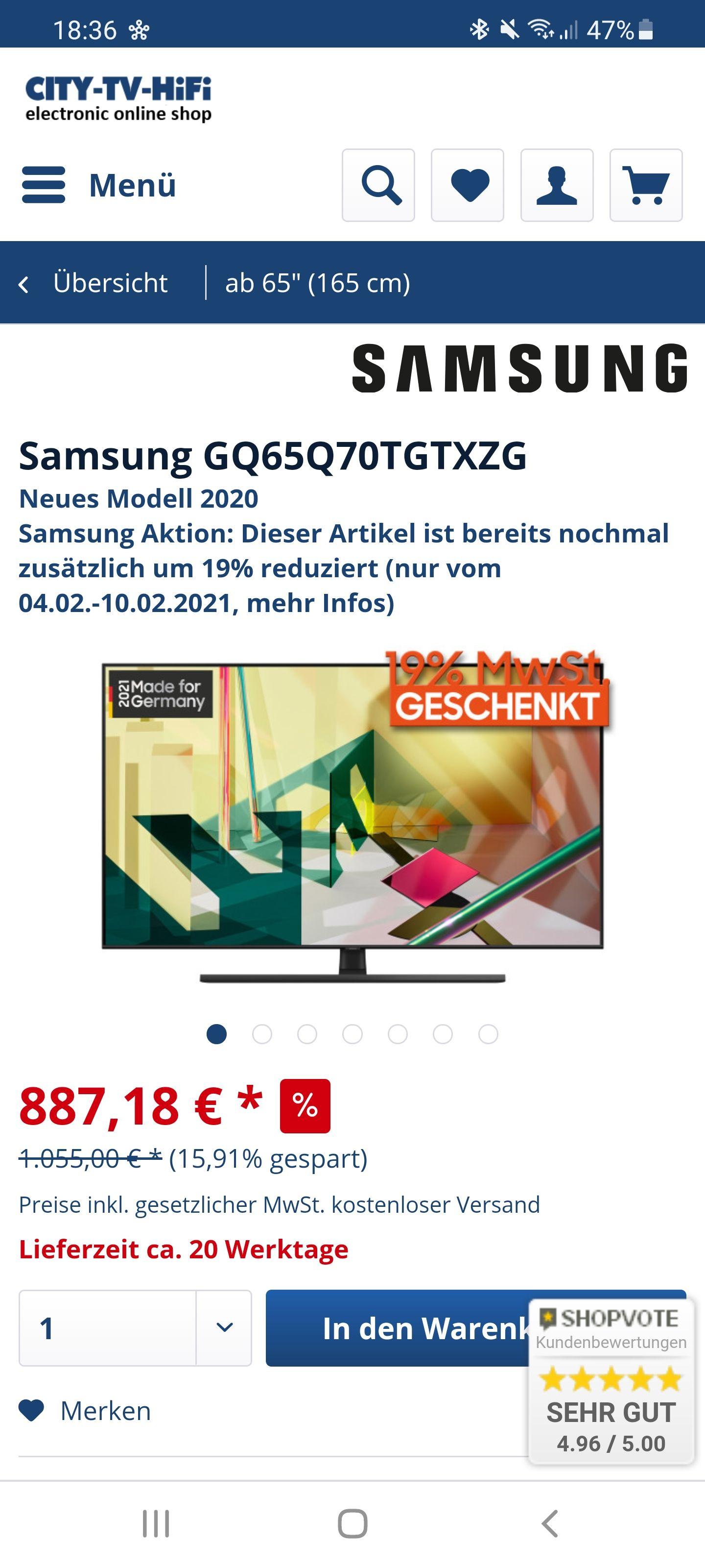 Samsung GQ65Q70TGTXZG
