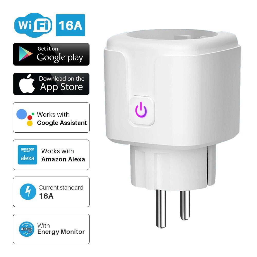 Smart WiFi-Netzstecker - 16 Ampere SmartLife-App - Power-Monitor - Alexa