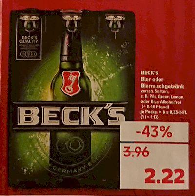[Lokal OL] Kaufland Beck's Bier 6er Träger