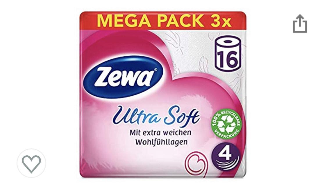 [Prime & Personalisiert] Zewa Ultra Soft Toilettenpapier 4-lagig 48 Rollen