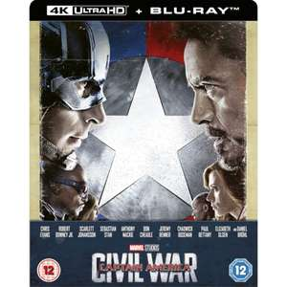 Marvel - Captain America: First Avenger: Civil War *4K Ultra HD + 2D Blu-ray - Zavvi Exklusives Steelbook