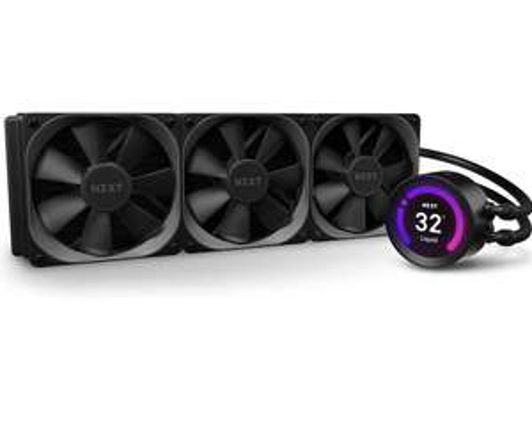 NZXT Kraken Z73 360 mm AIO RGB CPU-Wasserkühlung (Anpassbares LCD-Display, CAM V4, inkl. 3x Aer P 120 mm Lüfter)