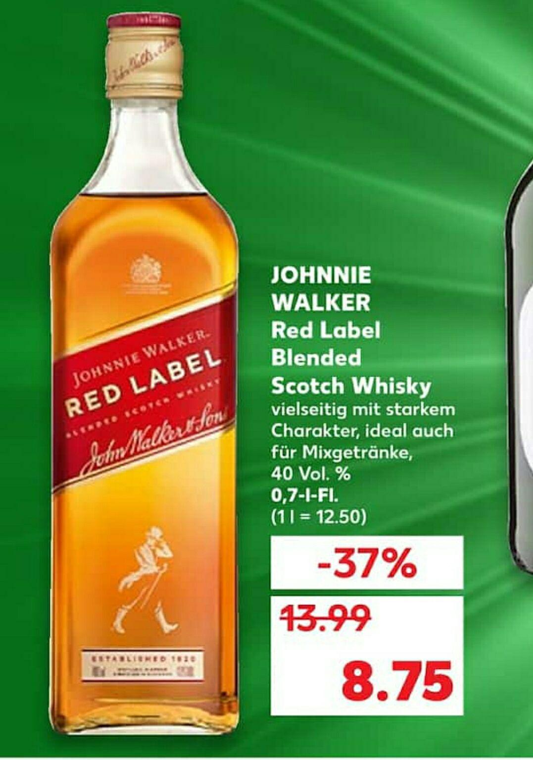 (Kaufland) Johnnie Walker Red Label (evtl. lokal)