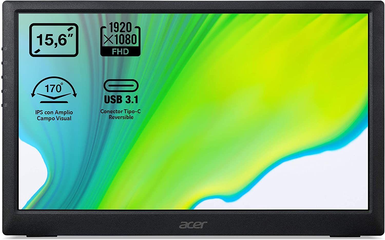 "Acer PM161Q portabler 15,6"" FHD Monitor (IPS, 60 Hz, USB-C, 170° Blickwinkel)"