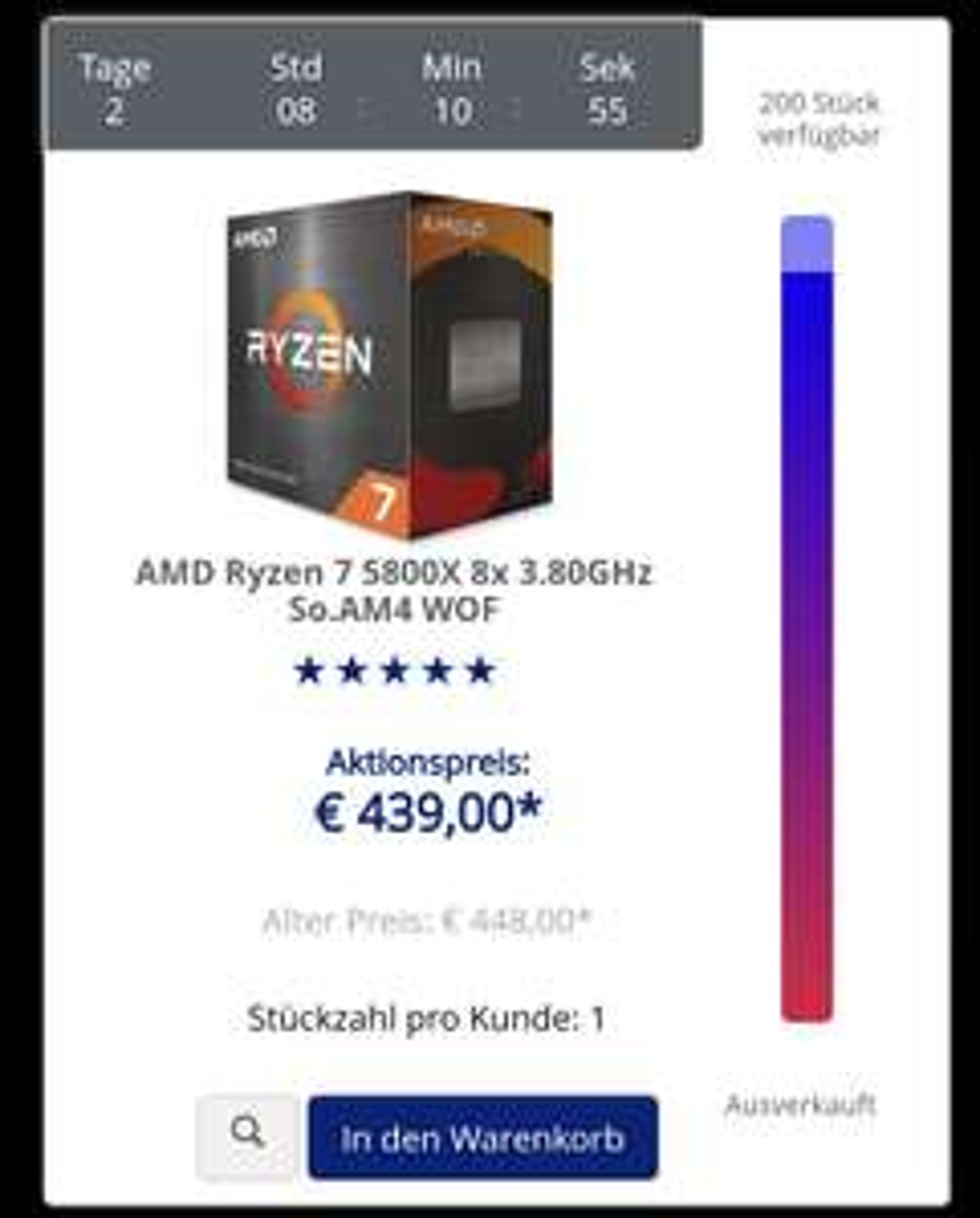 Mindfactory Damn Deals zum Verlieben z.B. AMD Ryzen 7 5800X