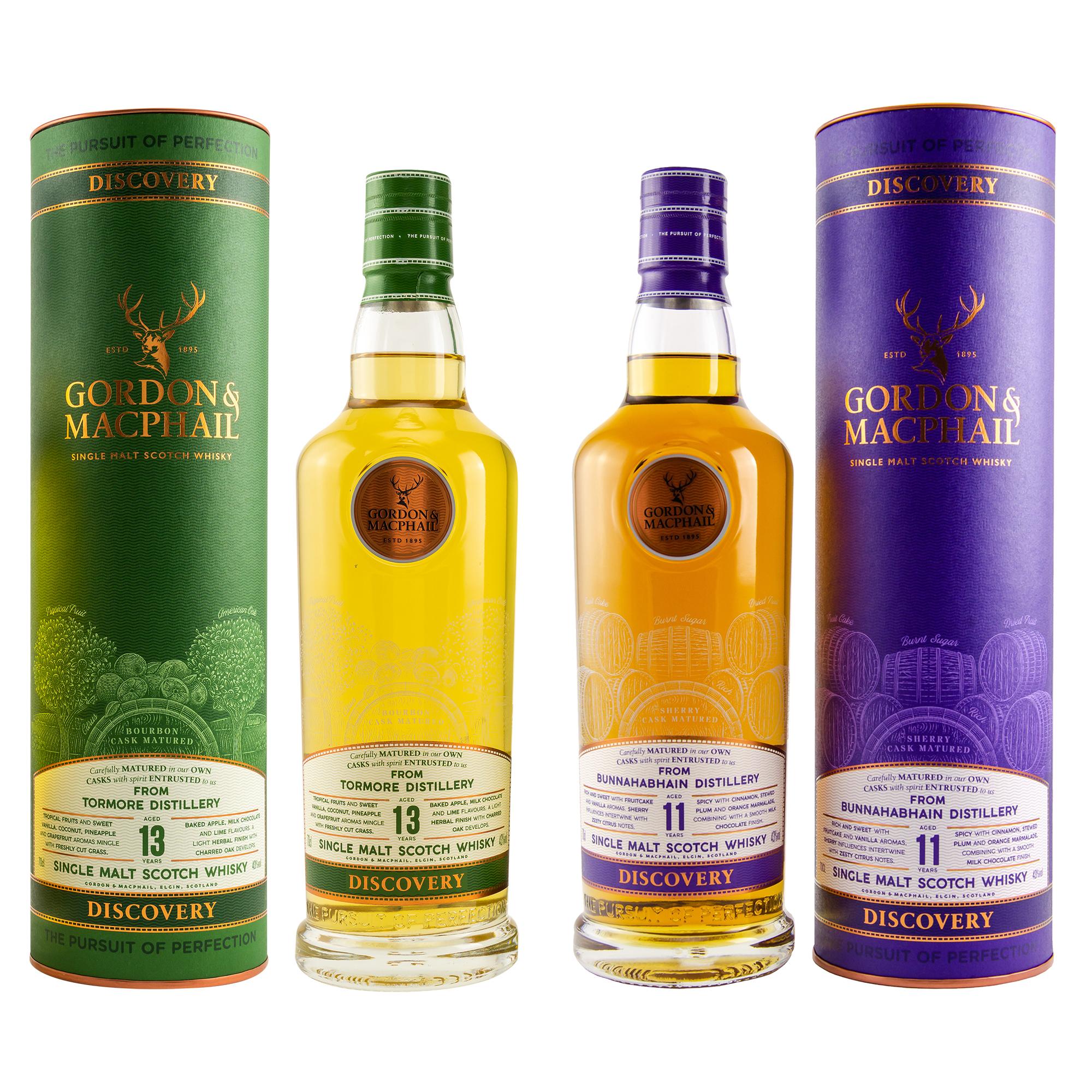 Tormore 13 Jahre & Bunnahabhain 11 Jahre (Gordon & MacPhail Discovery Series) Single Malt Whisky