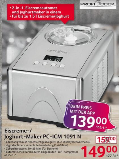 [Selgros] ProfiCook PC-ICM 1091 Eismaschine