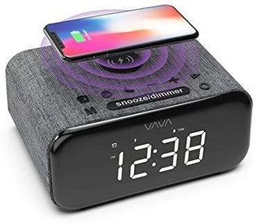 VAVA Voom 27 Bluetooth-Lautsprecher inkl. Qi-Ladepad, FM-Radio, Dual-Wecker & USB-Ladeanschluss
